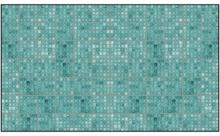 Faux Glass Tile Teal Gray Wallcoverings Stair