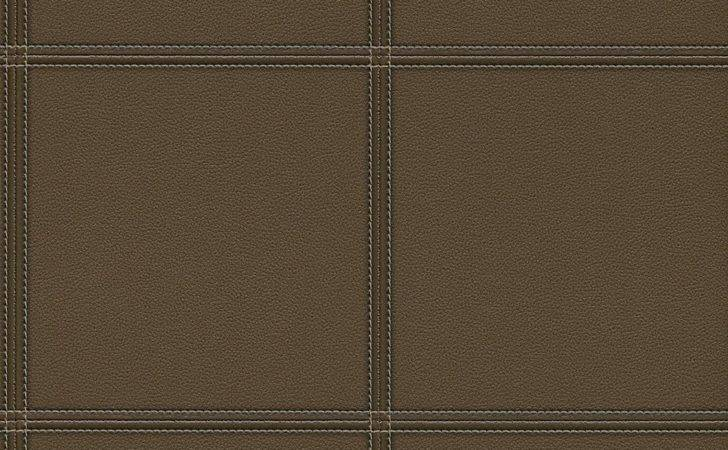Faux Leather Tile Dark Brown Wall
