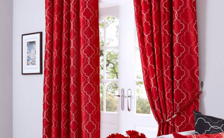 Faux Silk Luxury Curtains Embroidered Ready Made Lined