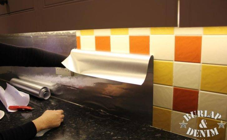 Faux Stainless Steel Removable Backsplash Renters