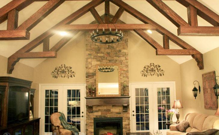 Faux Wood Beam Ideas Vaulted Ceilings