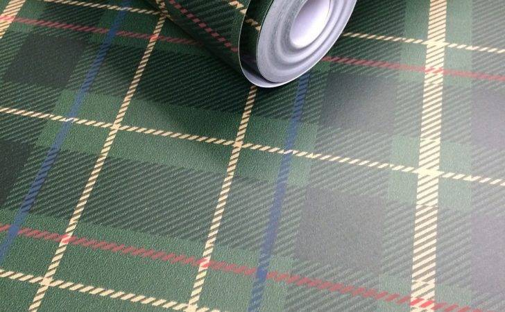 Fine Decor Caledonian Green Tartan