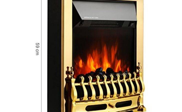 Finether Freestanding Fireplace Electric Fires Stove