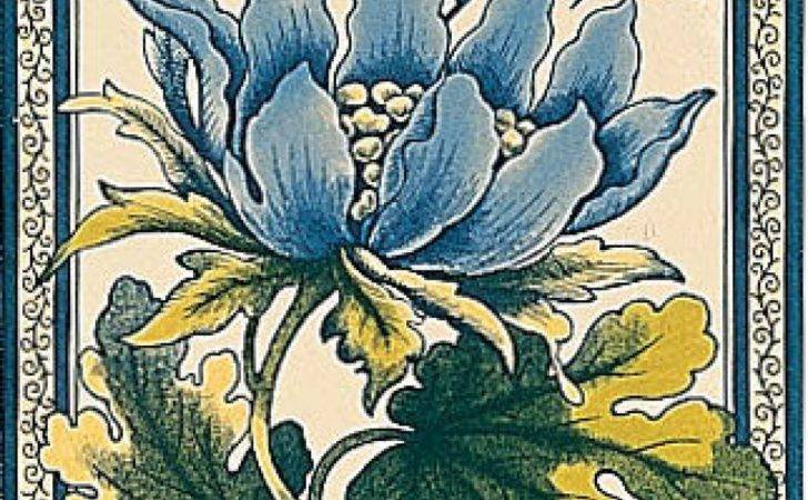 Fireplace Tiles Stovax Peony Reproduction Tile