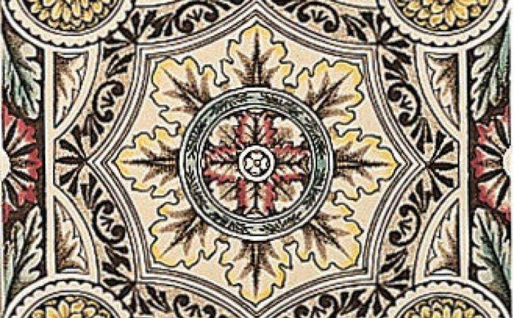 Fireplace Tiles Stovax Symetrical Floral Reproduction
