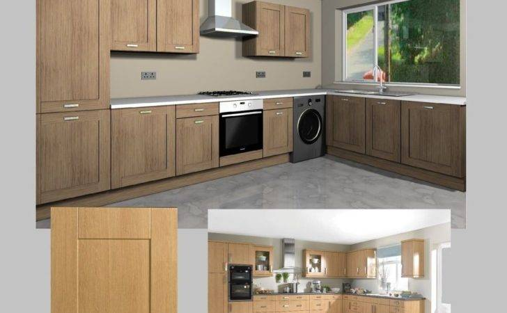 Fitted Kitchen Units Complete Shaker Oak Doors