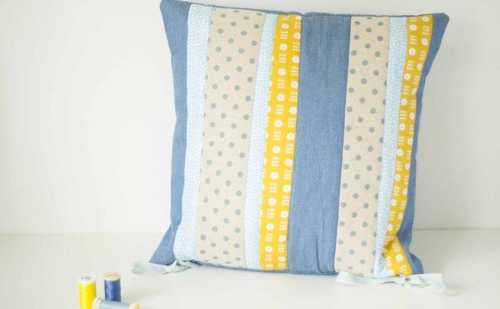 Floral Feather Sew Quilted Patchwork Cushion