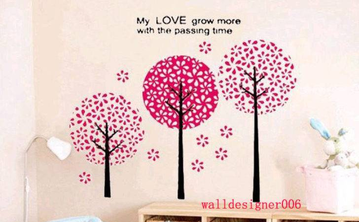 Floral Wall Decal Girl Room Decor Sticker