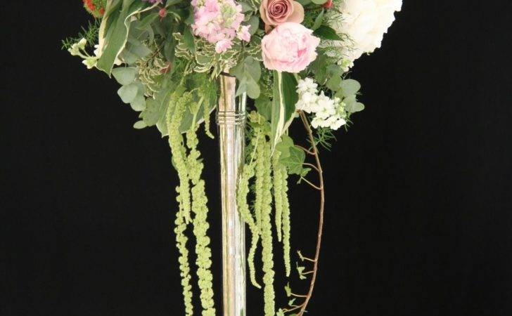Flower Design Table Centrepieces Silver Candlestick