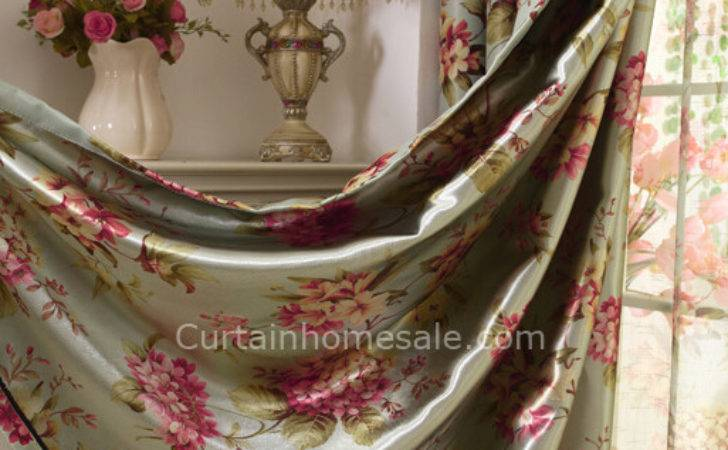 Flowers Printing Good Quality Ready Made Blackout Curtains