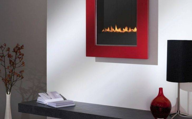 Flueless Gas Fire Tgc Retro Framed Wall Mounted