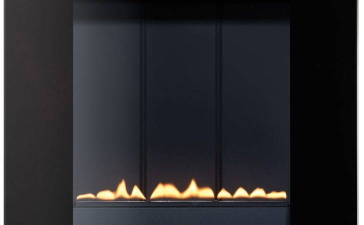 Focal Point Ebony Black Manual Control Wall Hung Gas Fire