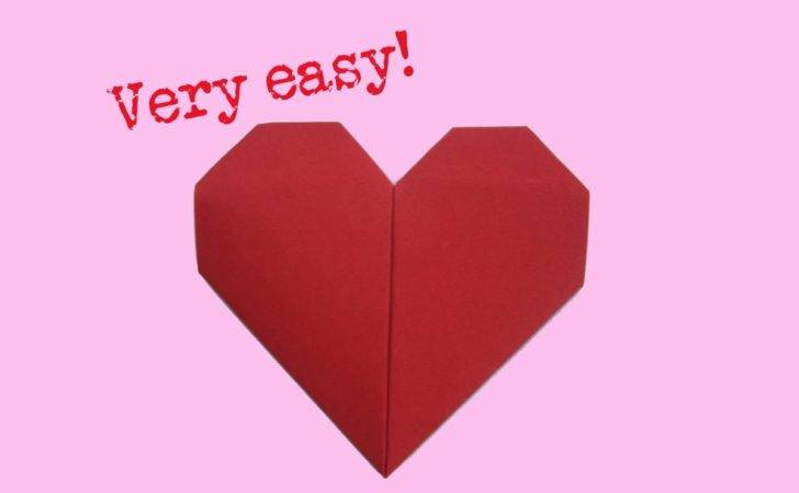 Fold Heart Very Easy Way Make Paper