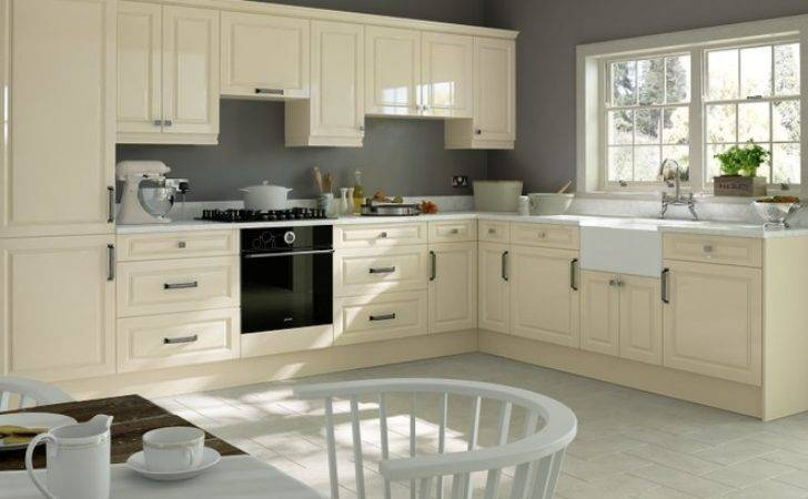 Fontwell High Gloss Cream Kitchen Doors Made Measure
