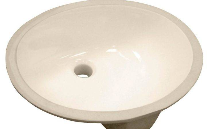Foremost Vitreous China Oval Undermount Bathroom Sink