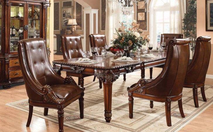 Formal Traditional Style Antique Cherry Finish Dining