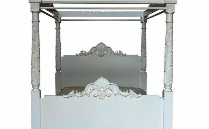 Four Poster Bed Antique White