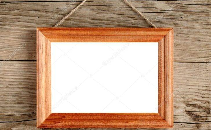 Frame Hanging Old Wooden Wall