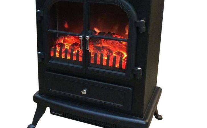 Freestanding Electric Stove Fire Heater Log Burning