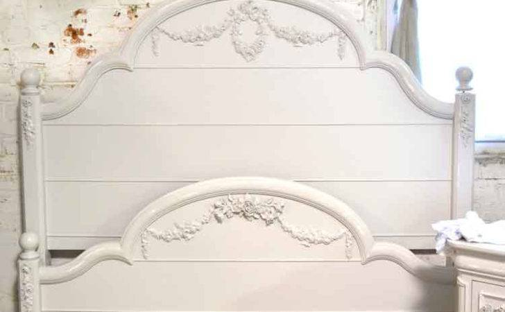 French Bed Painted Cottage Shabby Chic Romantic