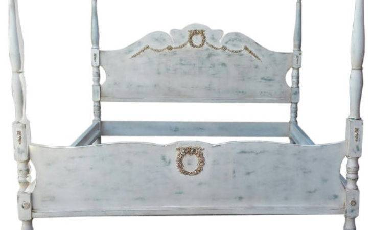 French Country Four Poster King Bed Fabulousandfrench