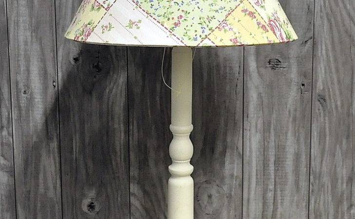 French Country Vintage Patchwork Floral Shade Bedside
