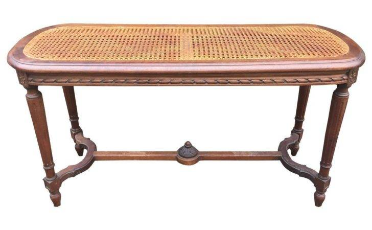 French Louis Xvi Style Caned Walnut Bench Stdibs