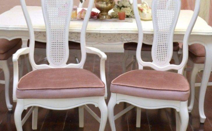French Provincial Dining Room Furniture White Painted