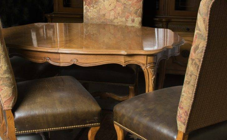 French Provincial Style Dining Table Four Chairs Ebth