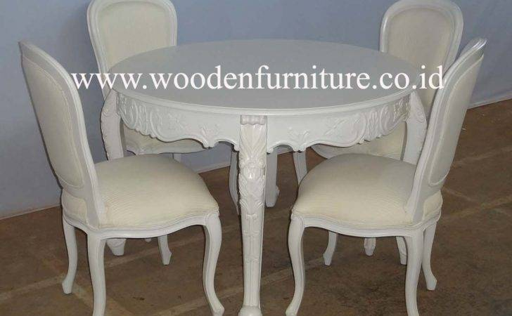 French Style Dining Chair Round Table Classic
