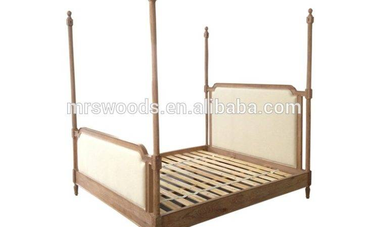 French Style Four Poster Bed Upholstered