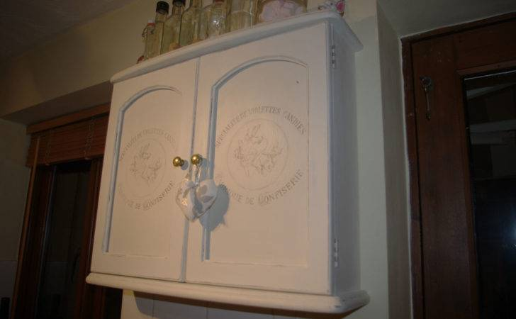 French Style Shabby Chic Bathroom Cabinet Touch
