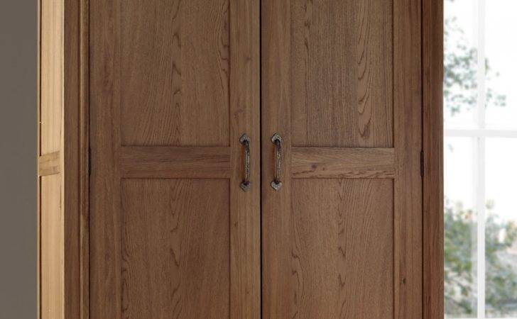 French Style Versaille Rustic Oak Length Wardrobe