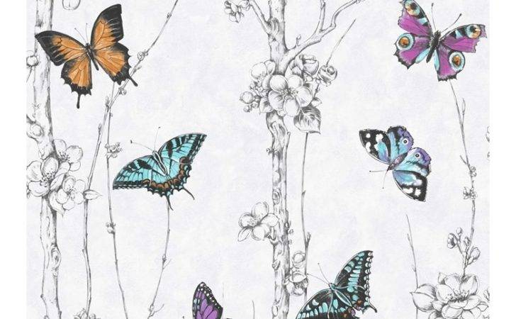Fresco Great Value Flutter Forest Butterfly Print