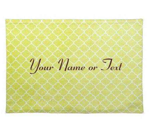 Fun Green Print Personalised Placemat Zazzle