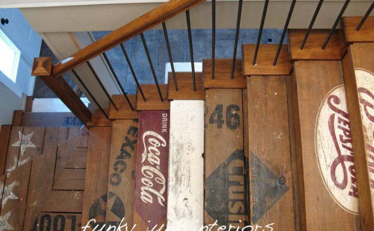 Funky Junk Interiors Eclectic Staircase Vancouver