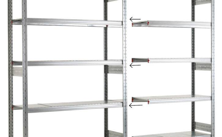 Galvanised Level Shelving System Garage Shelves