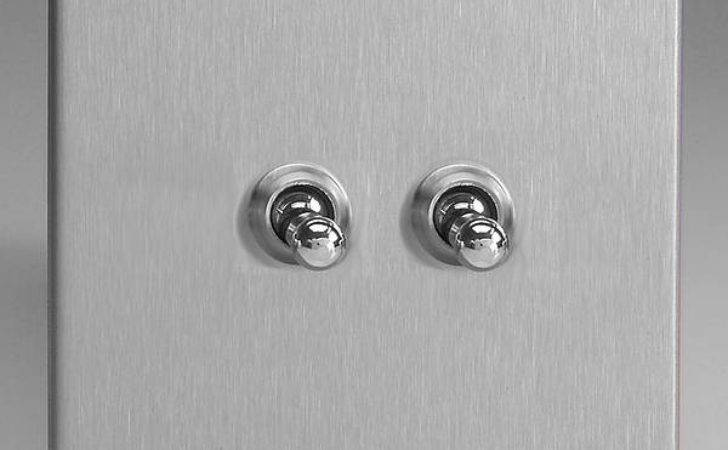 Gang Way Toggle Light Switch Brushed Stainless Steel