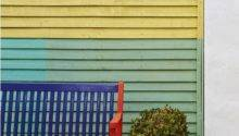 Garden Fence Bench Painted Block Colours Easy