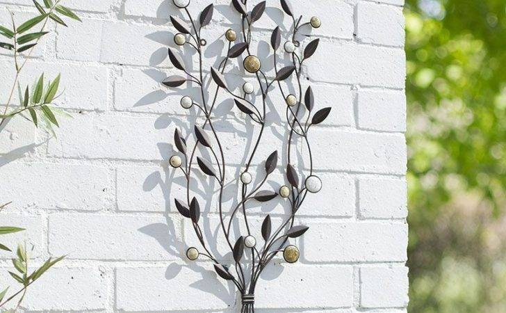 Garden Metal Wall Art Decor Leaf Bunch Cmh Patio Indoor