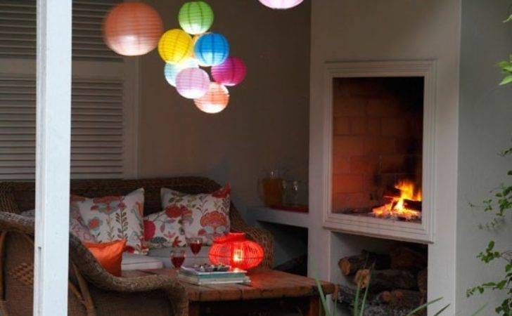 Garden Party Covered Seating Area Paper Lanterns
