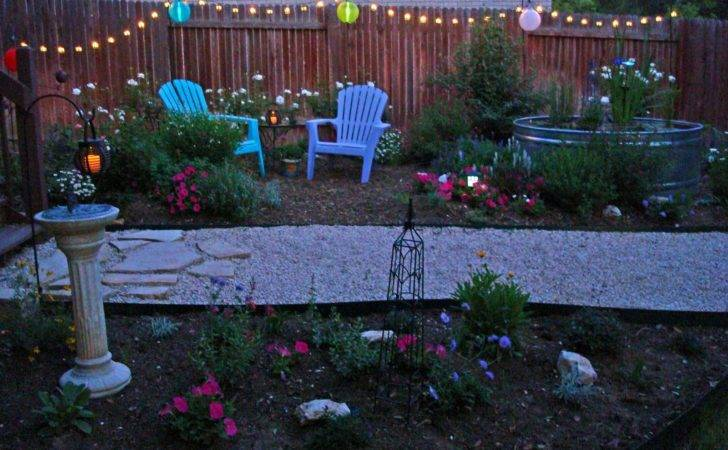 Garden Path Wanderings Party Lights Hung
