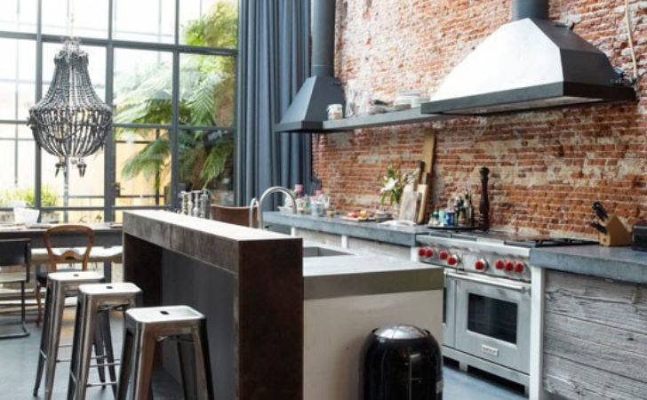 Get Look Modern Industrial Kitchens