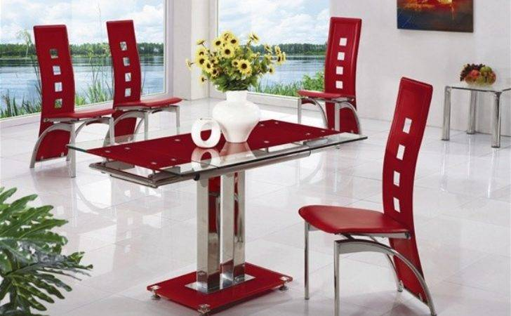 Gio Extending Glass Dining Table Chairs