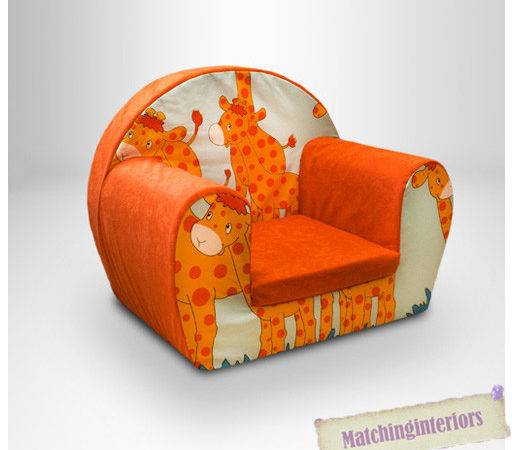 Giraffe Animal Childrens Kids Comfy Foam Chair Toddlers