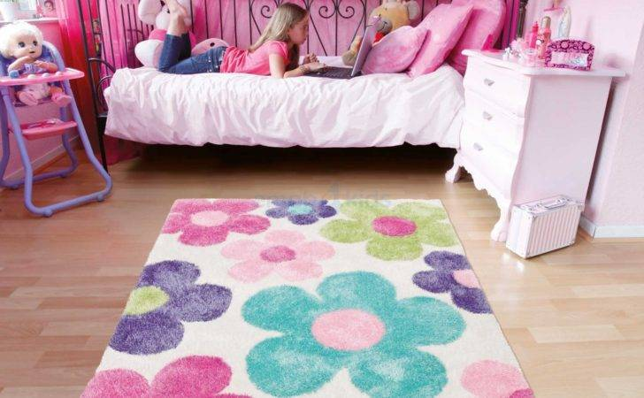 Girls Bedroom Area Rugs Square Pink Blue Green Purple