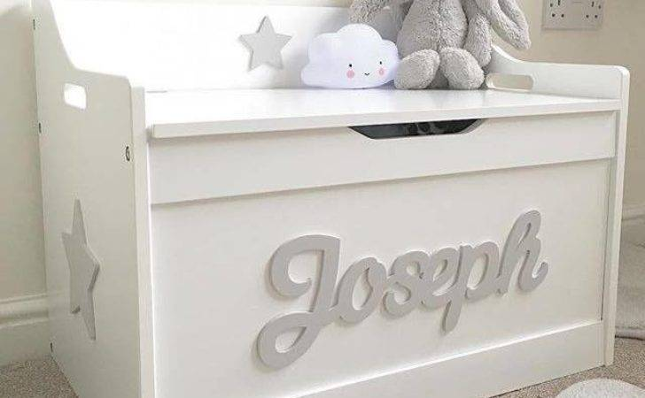 Girls Boys Wooden Personalised Children Toy Box Storage
