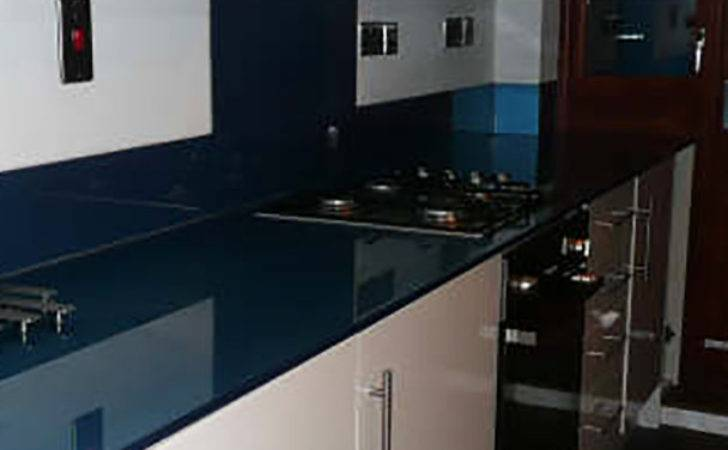 Glass Kitchen Worktops Coloured Patterned Toughened
