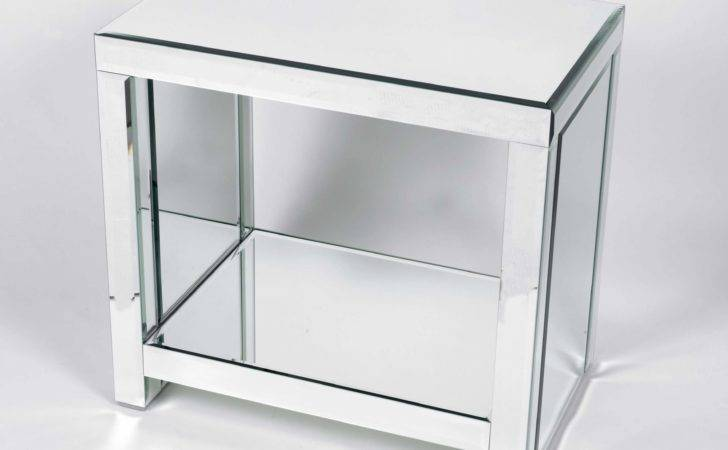 Glass Side Table Unit