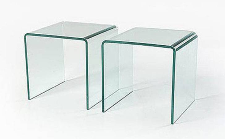 Glass Side Tables Set Abode Interiors